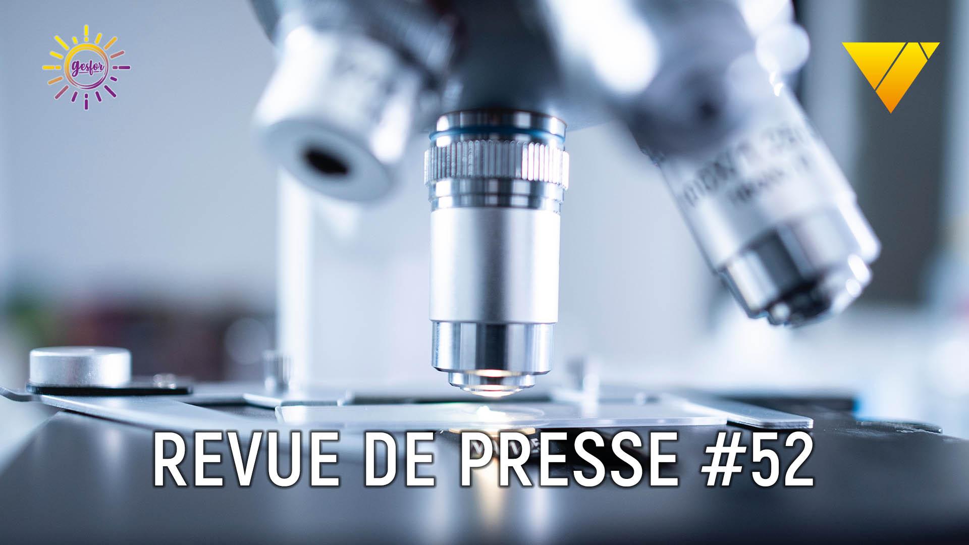 illustration revue de presse numero 51 de mayday formation representant un microscope pour parler de la detection du covid