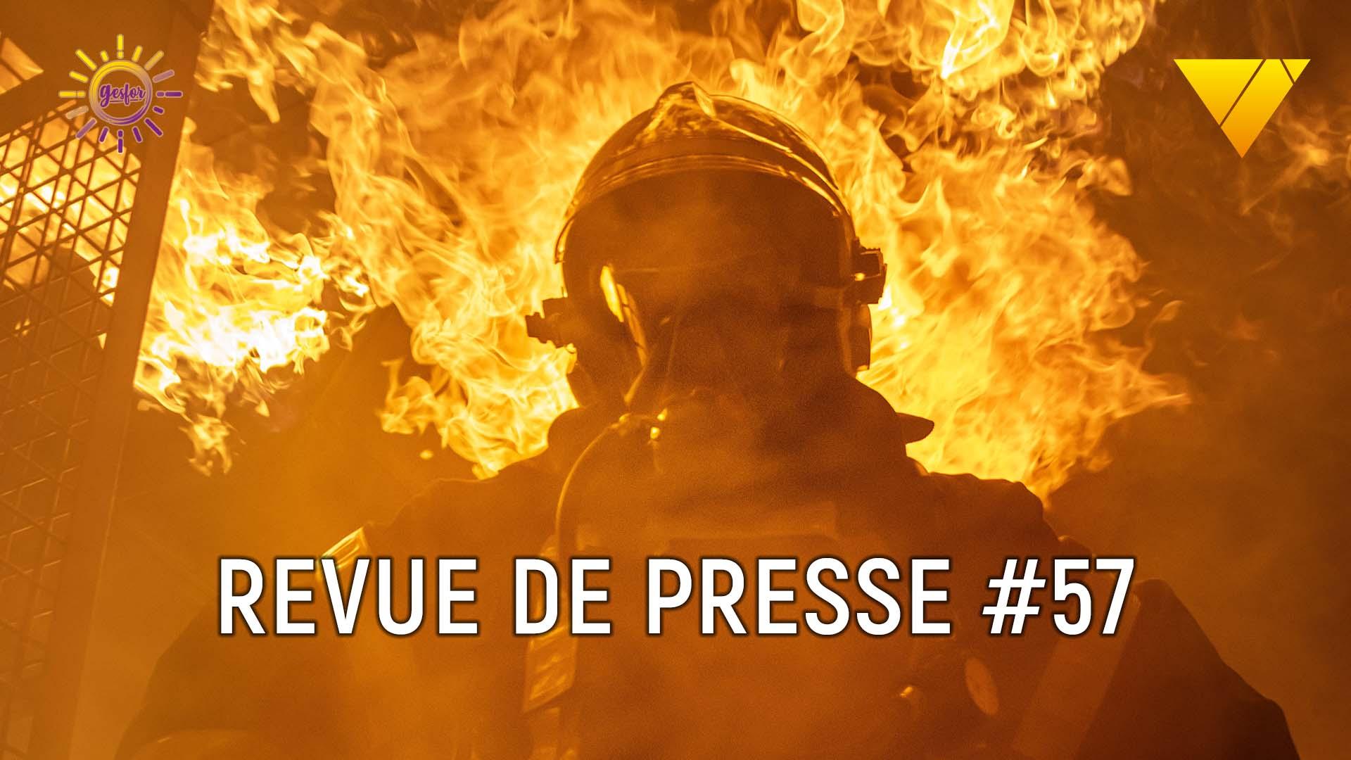 illustration de la revue de presse sur les accidents du travail 57 avec un article sur les spt des pompier et les accidents catec