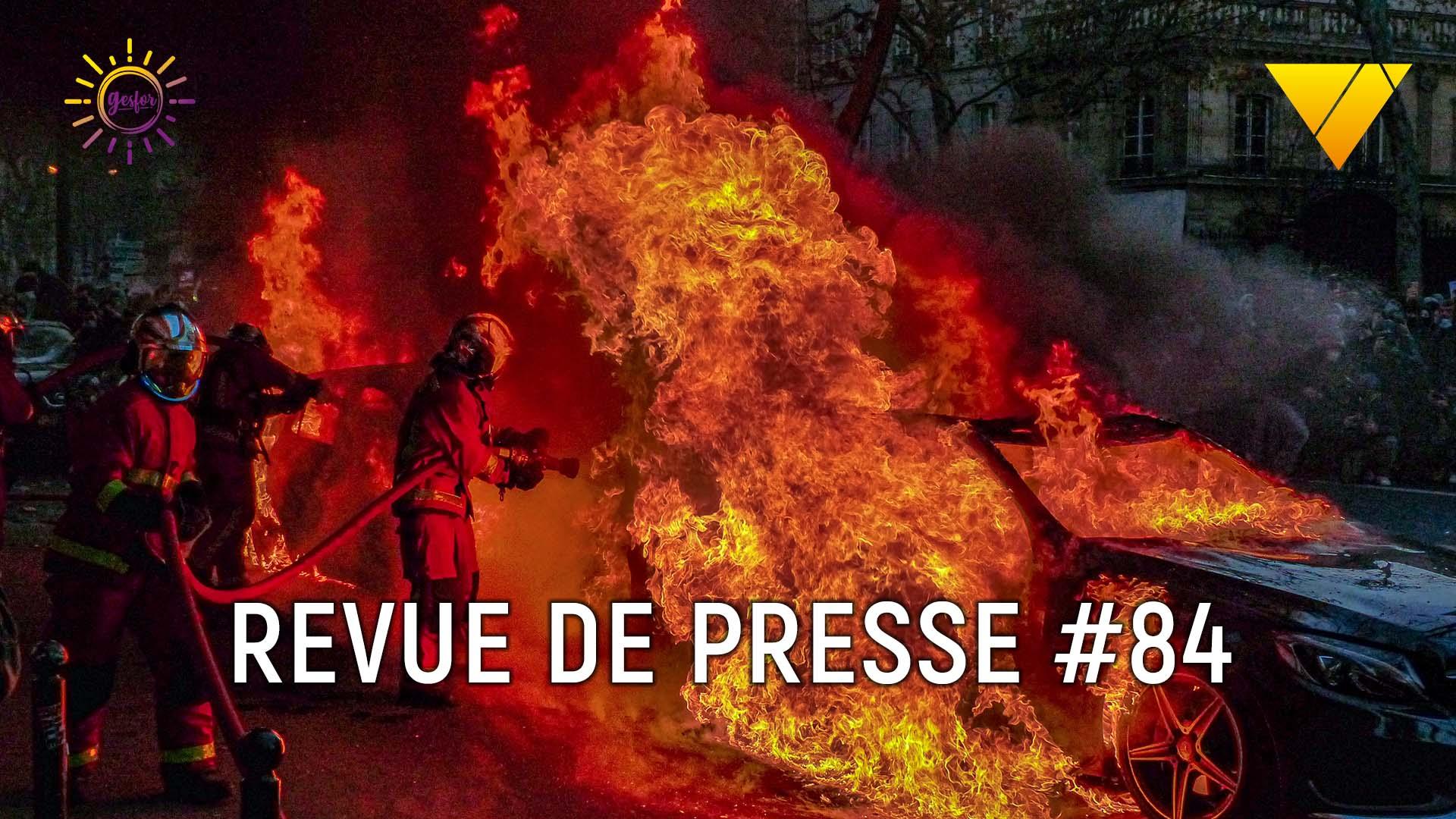 84ème revue de presse accidentologie du travail, on parle accident catec , agression de pompiers et bilan 2019